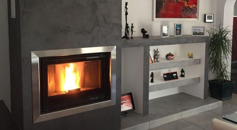 Habillage en inox pour cheminée
