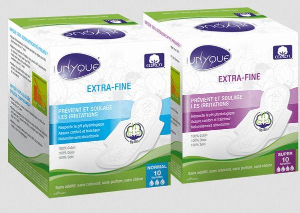 serviettes hygiéniques en coton